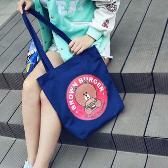 Túi xách tone vải đeo vai SPH-HBR02(BLUE)