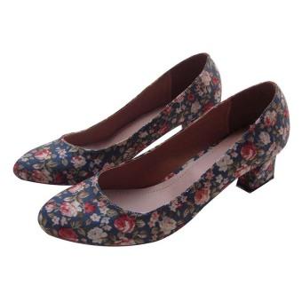 Giày cao gót Dolly&Polly DL174 (Xanh)