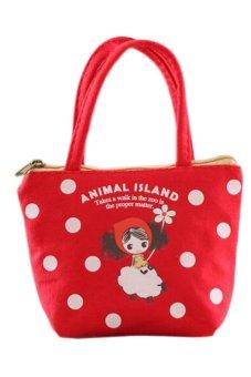 Bluelans Ladies Women Sheep Handbag Wallet Coin Bag Linen Purse Key Phone Holder (Intl)