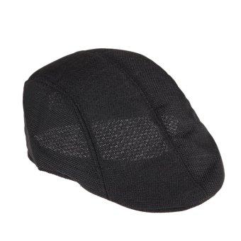 Mens Vintage Flat Cap(Black) (Intl)