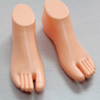 1 Pair Thong Style Female Foot Shoes Mannequin For Foot Sandal Shoe Display - intl