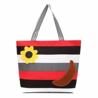Women Bag New canvas Zipper shoulder bag Style 3 (Intl) - intl