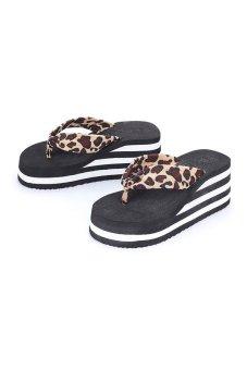80621-2 Women Fashion Platform Flip Flop(Brown Leopard) - Intl - intl