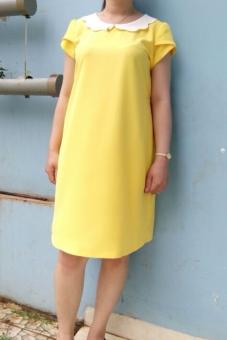 Đầm bầu cổ đăng (Vàng)