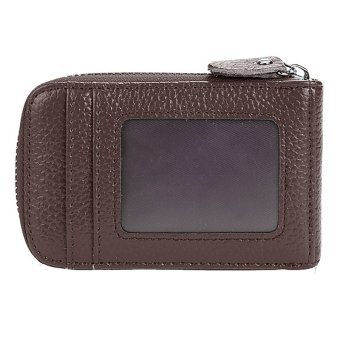 Cyber Mens/Womens Fashion Mini Synthetic Leather Wallet ID Credit Cards Holder Organizer Purse (Coffee) - Intl