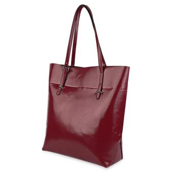 Simple Style Pure Color Waterproof Shopper Bag for Women - intl