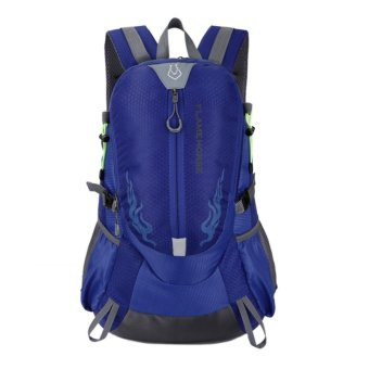 Fashion Waterproof Outdoor Sports Shoulder Bag Travel Backpack (Bright Blue) - intl