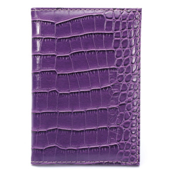 CAMTOA Emboss Ticket Cover Protector Travel Wallet Leather Document Bag Passport Holder Purple - intl