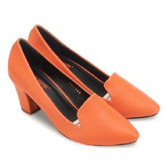 Giày nữ Huy Hoàng cao cấp kiểu vuông (Cam)