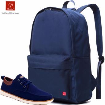 Combo Balo Cylinder Laptop BLL002BU + Giày Sneaker GS022BU (Xanh) - CB025