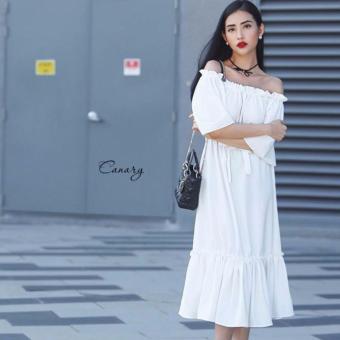 Đầm suông dài trễ vai thanh lịch Xavia Clothes Canary