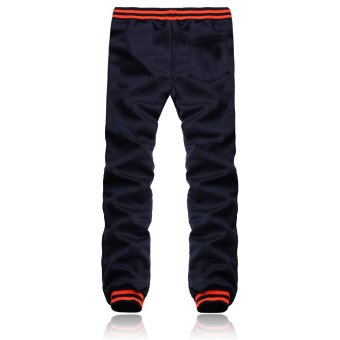 Fashion Men Casual Plain Trousers Joggers Gym Tracksuit Bottoms Pants - Intl