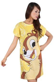 Váy ngủ Family Shop VNF05 (Vàng)