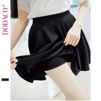 Chân Váy Ngắn Nữ Có Quần Lót Liền Thân Phong Cách Hàn Quốc Thời Trang DODACO DDC1878 DE VNU M - 3XL (Đen)