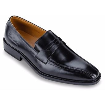 Giày Da Pierre Cardin Black Penny Loafer Cement - PCMFWLB046