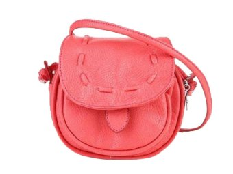 niceEshop Lovely Cute Girl PU Leather Adjustable Soft Front Pocket Crossbody Bag (Watermelon Red)