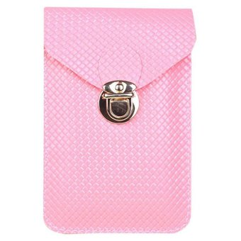 Moonar Women's Cross-body Shoulder Bags Mini Phone Bag Purse (Pink) - Intl