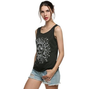 Cyber Casual Summer Sexy Women Vest Tank Top Print T-Shirt Blouse (Intl) - Intl