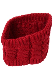 LALANG Turban Knitted Headband (Red)