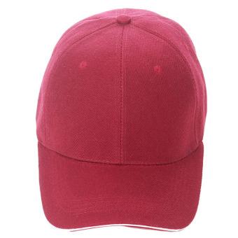 Unisex Plain Baseball Sport Cap Blank Curved Visor Hat (Dark Red) - Intl
