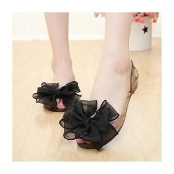 Giày sandal nhựa nơ