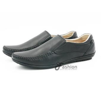 Giày Mọi Nam Da Thật Hàn Quốc GM220 (Đen)