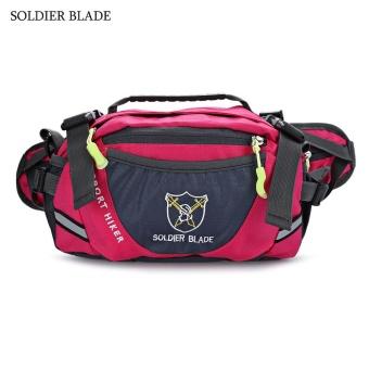SOLDIER BLADE Multifunction Unisex Outdoor Travel Bottle Storage Waist Bag Shoulder Bags(Red) - intl