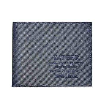 Slim Men Leather Bifold Wallet Purse Blue