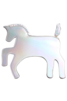 Lalang Lovely Pony Unicorn Clutch Wallet Handbags (Multicolor)