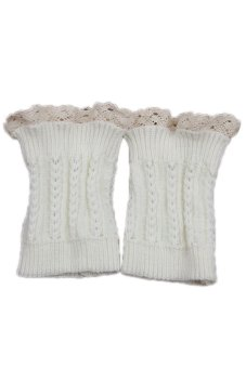 Lalang Knitted Leg Warmers White - Intl