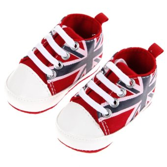Baby Casual Black White Prewalker Walkers Bowknots Shoes (Red) - intl