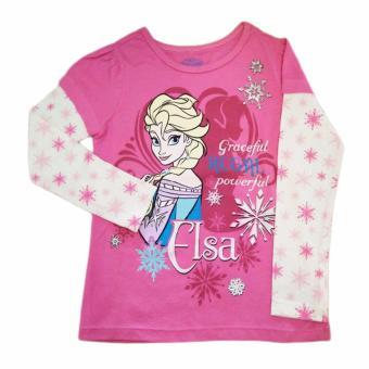 Áo thun tay dài bé gái Disney Frozen Elsa