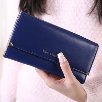 Lady Women Clutch Long Purse Leather Wallet Credit Card Holder Bags Gift Blue - intl
