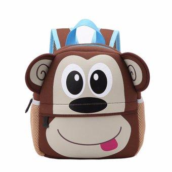 Toddler Kid Children Boy Girl 3D Cartoon Animal Backpack School Bag Rucksack HOT Monkey pattern - intl