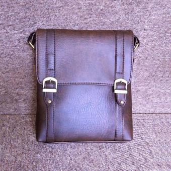 Túi đeo chéo nam da PU cao cấp TD02 (Nâu Cafe)