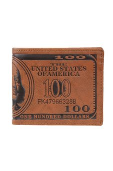 US Dollar Bill Wallet (Brown)