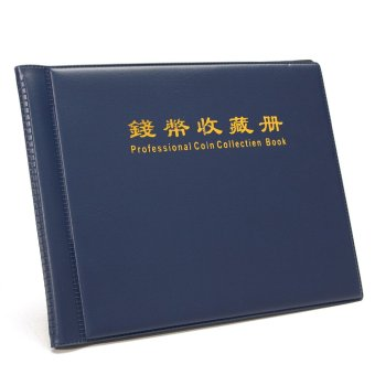 Dark Blue Portable Money Penny 5 pages12pockets 5 pages24pockets 180Holders Collection Storage Coin Album Book Folder 12pockets - intl