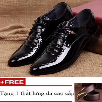 Giày nam bóng thời trang + Tặng kèm thắt lưng da