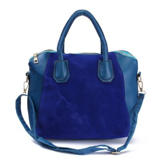Mua Women Lady Leather Shoulder Bag Tote Purse Handbag Messenger Cross Body Satchel Blue - intl giá tốt nhất