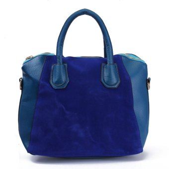 Women Lady Leather Shoulder Bag Tote Purse Handbag Messenger Cross Body Satchel Blue - intl