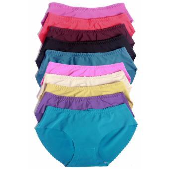 Bộ 10 quần lót nữ trơn từ 52kg trở xuống