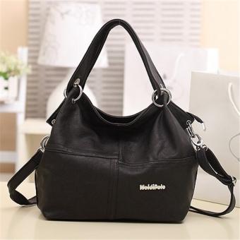 Lady Leather Satchel Handbag Shoulder Tote Messenger Crossbody Bag Black - Intl