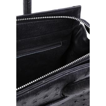 HL6401 - Túi xách Huy Hoàng da đà điểu màu đen