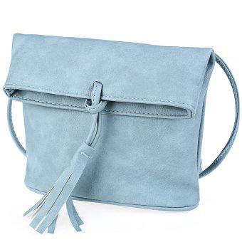 Women Tassel Embellishment Bag (Light Blue) - Intl