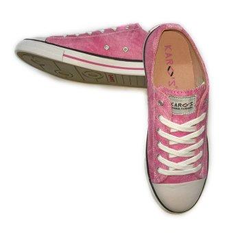Giày sneaker nữ cổ thấp CODAD CANVAS KARO (Hồng nhạt)