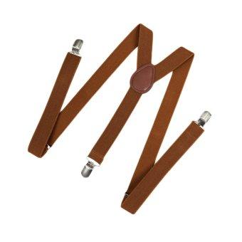 New Fashion Men Women Clip on Suspenders Elastic Y-Shape Back Formal Unisex Adjustable Braces - Intl