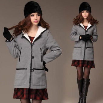 Women Russian Rabbit Fur Knitted Cap Nice Winter Warm Beanie Hat Black (Intl)
