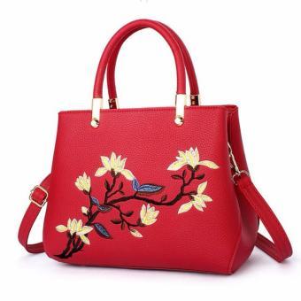 Túi xách công sở thêu hoa Letin T68-SP-2A5 ĐỎ