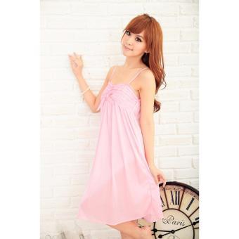 Váy Ngủ Đẹp Quyến Rũ Lụa Sóng MS484 hồng