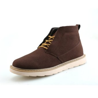 Men Women Winter Warm Suede Shoes Increased Ankle Boots - intl